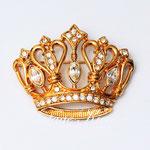Лот №40.Винтажная брошь-корона Кеннет Джей Лейн,коллекция для Эвон.Позолота 24К,кристаллы Сваровски,размер-4.5х3.5 см.Цена-2100 грн