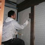 内装漆喰塗り中