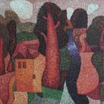 Розовый мир.       2014 г.      Холст, масло.        50х60 см.