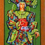 Юрий Гладонюк.     Капнавал 3.     2006 г. Смешанная техника. 54х39 см.