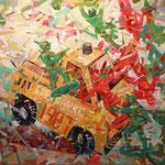 Мужские игры-2.        2015 г.            Холст, масло.       95х105 см.