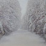 Зима. Композиция №20.   Холст, акрил.     60х70 см.