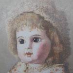 Старинная кукла 2.       2014 г.     Холст, акрил.    60х60 см.