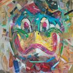 Маска. Утка.          Маски (триптих).       2015 г.    Холст, масло.     85х80 см.