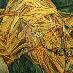 Золотой волос.     2015 г.      Холст, масло.     Диптих.     Часть-1    80х80 см.    Часть-2     80х90 см.