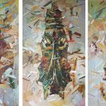 Куколки (триптих).         Холст, масло.     110х60 см.        2015 г.