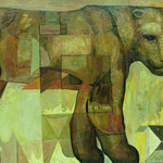 Львица (Если пожар).       2009 г.     Холст, масло.    65х80 см.