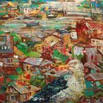 Вид на бухту Золотой Рог.          2015 г.         Холст, масло.    110х65 см.
