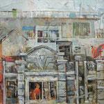 Кирилл Бородин.     Вид из окна.     2013 г. Холст, масло.   70х75 см.