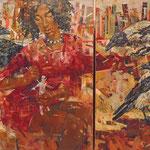 Кирилл Бородин.   Вуду (диптих).     2014 г. Холст, масло.    90х70 и 90х48 см. Может продаваться по-отдельности.