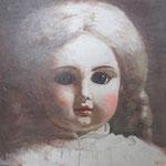 Старинная кукла 3.     2014 г.    Холст, акрил.    60х60 см.