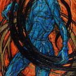Голубая змейка – 2.     2015 г.       Холст, масло.     150х100 см.