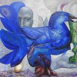 Птица счастья. Ловец.            2015 г.     Холст, масло.    82х92 см.