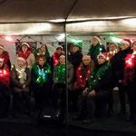 Tijdens de kerstwandeling in de Kasteelse Bossen op 27 december 2017...