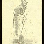 Borghese in redingote, disegno di Rimbaud