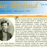 Homepage del vecchio sito di Rimbaud (www.arthurrimbaud.it)