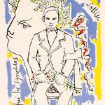 "Jean Cocteau, ""Hommage à Rimbaud"", litografia (1960)"