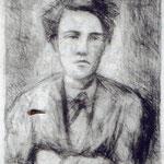 "Carlo Carrà, ""Rimbaud"", litografia su zinco (1944)"