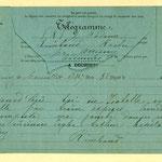 Telegramma di Rimbaud alla famiglia, 22 maggio 1891