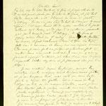 Lettera autografa di Rimbaud alla sorella Isabelle del 2 luglio 1891