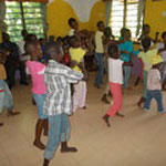 The children of Shining Orphans Childrens Home in Kashani showing a dance...