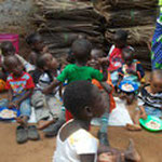 The children while eating...