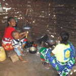 The women preparing the food...