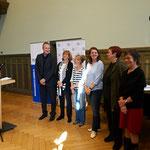 Klassensätze-Jury v. l. n. r. Heiko Reich, Anette Kannengießer, Katharina Mahrenholtz, Katrin Hörnlein, Dr. Katrin Bothe, Andrea Herzog.