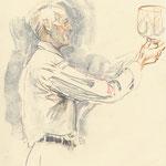 Jim Ede dessin de Jane Adams, his granddaughter