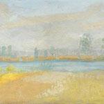 L'Aloue peint par Winifred Nicholson. Maison de Vera Moore en Touraine (France)