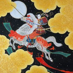 「華舞う」 F8号 紙本着彩・箔 2014年制作