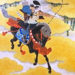 「黄雲破魔」 P8号 紙本彩色・箔  2013年制作