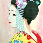 「恋」 P4号 紙本彩色  2015年制作
