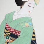 「京の華 菊」 900mm×370mm 紙本彩色  2013年制作