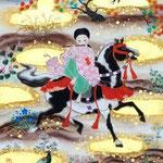 「遊秋図」 F3号 紙本彩色・箔  2015年制作