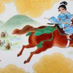 「野駆け・薫風」 M3号  紙本彩色・箔  2014年制作
