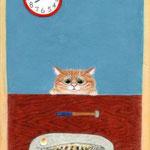 「トトの日」 葉書サイズ  紙本彩色  2013年制作
