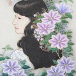 「鉄線佳人」 P10号  紙本彩色 2012年制作