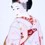 「京の華 桜」 900mm×370mm   紙本彩色  2013年制作