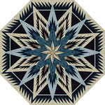 Feathered Snow Flake Tree skirt quiltworx pattern
