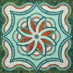 Lakeshore Hosta Queen quiltworx pattern