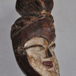 MASQUE TSOGHO - GABON - BOIS, METAL, PIGMENTS - HAUTEUR 37 CM - LARGEUR 19 CM