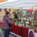 """Stand beim """"Aktionstag gesund und fair essen"""" in Mühlhausen"""