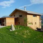 Haus Fassade aus Holz.