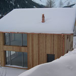 Wohnhaus Sedrun, Holzelementbau.