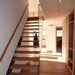 Eingangsbereich DG und Treppe zur Galerie.