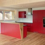 Innenausbau Küche, Parkettboden