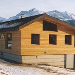 Renovation, Fassade aus Holz Lärche.