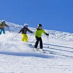 Skifahren im Familien Skigebiet.