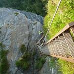 Klettersteig Treppen von oben.